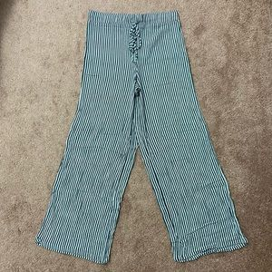 Forever 21 Green Striped Pants